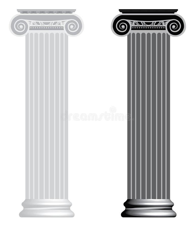 Coluna iónica do vetor ilustração do vetor