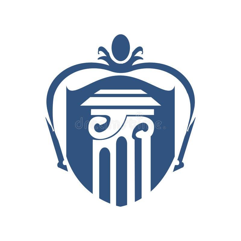 Coluna Logo Vetora Template do protetor ilustração stock