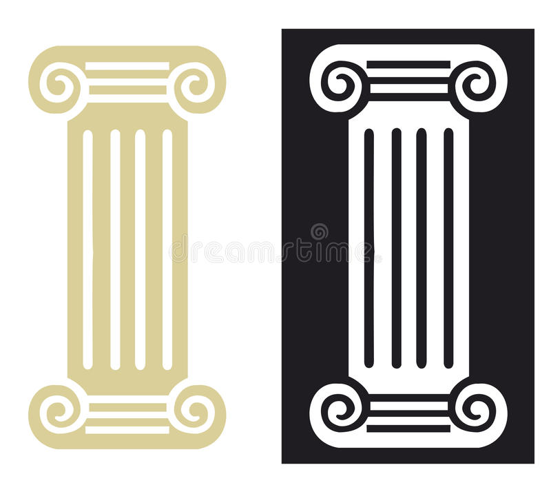 Coluna romana no vetor ilustração royalty free