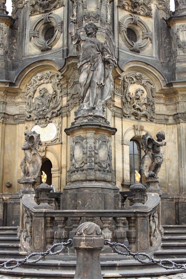 Coluna santamente da trindade em Olomouc foto de stock