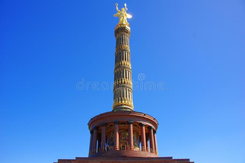 A coluna Siegessauele da vitória em Berlim - Alemanha imagem de stock royalty free