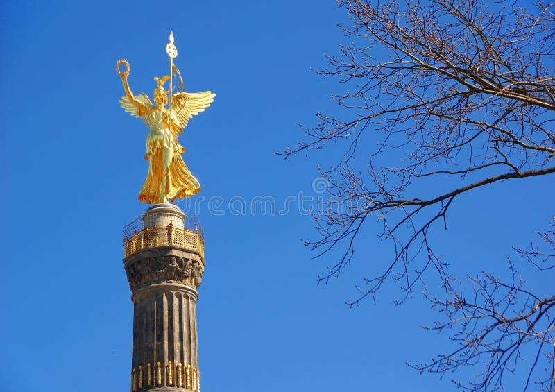 A coluna Siegessauele da vitória em Berlim - Alemanha fotografia de stock royalty free