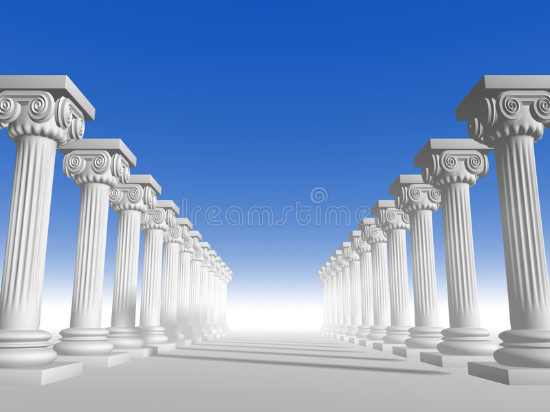 Colunas 15 ilustração royalty free