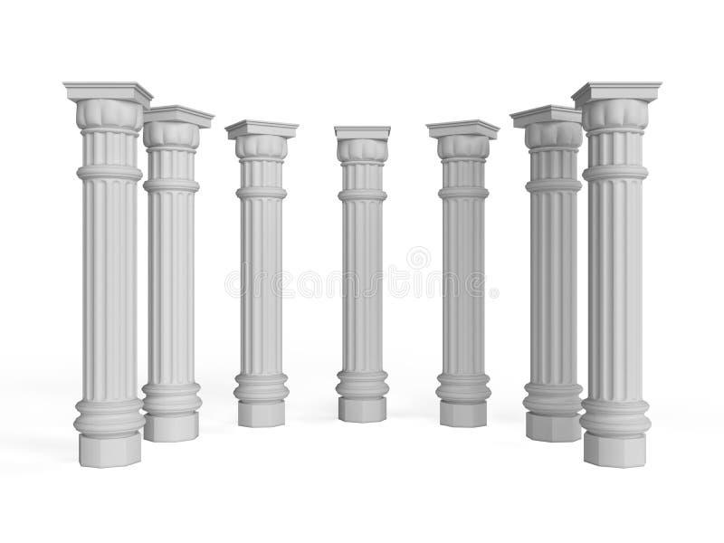 Colunas ilustração stock