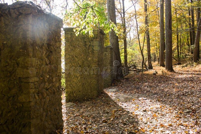 Colunas abandonadas fotografia de stock