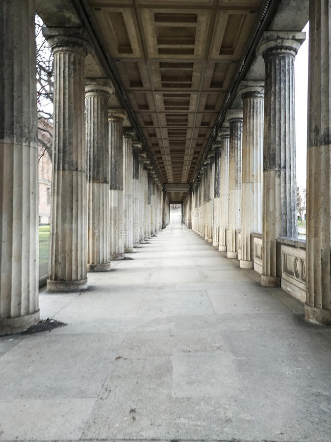 Colunas alligned grandes imagens de stock royalty free