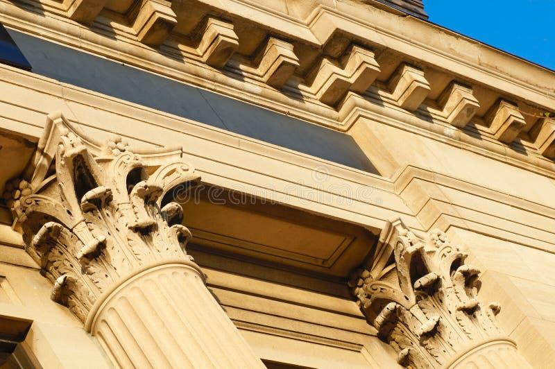 Colunas angulares imagem de stock royalty free
