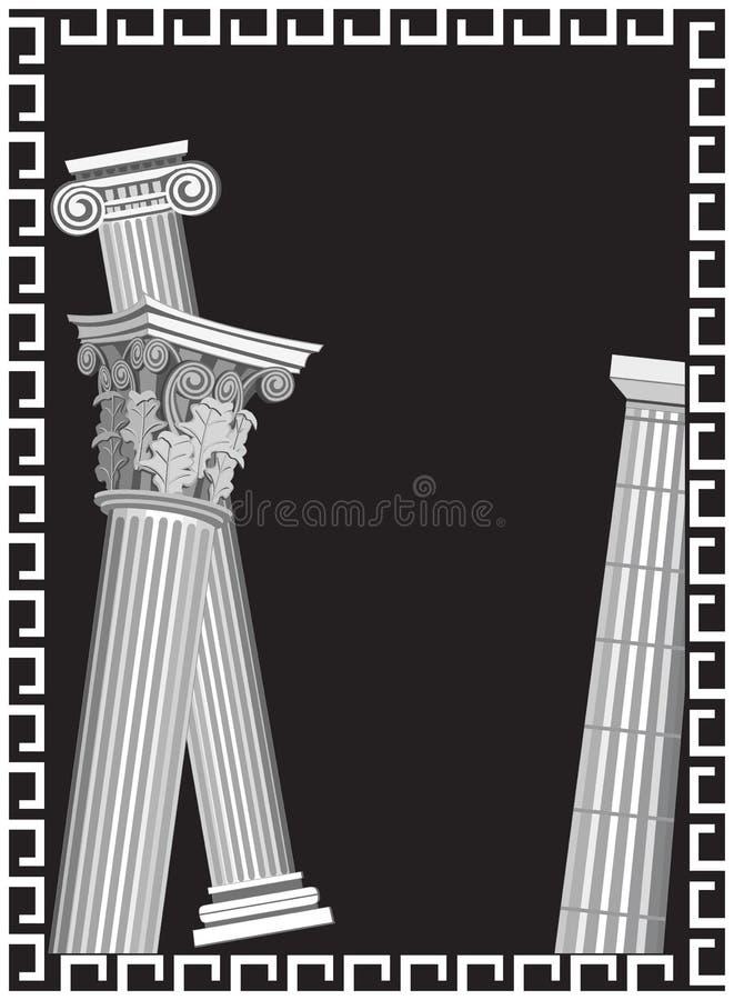 Colunas antigas ilustração stock