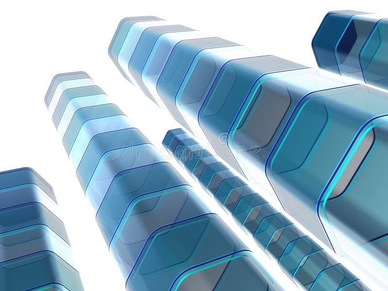 Colunas azuis abstratas ilustração stock