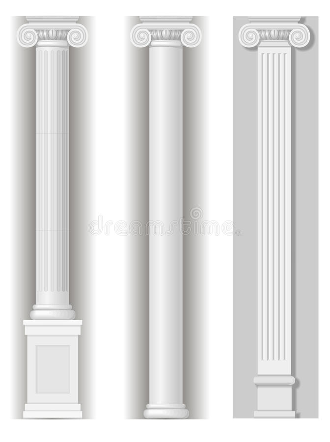 Colunas brancas antigas clássicas ilustração do vetor