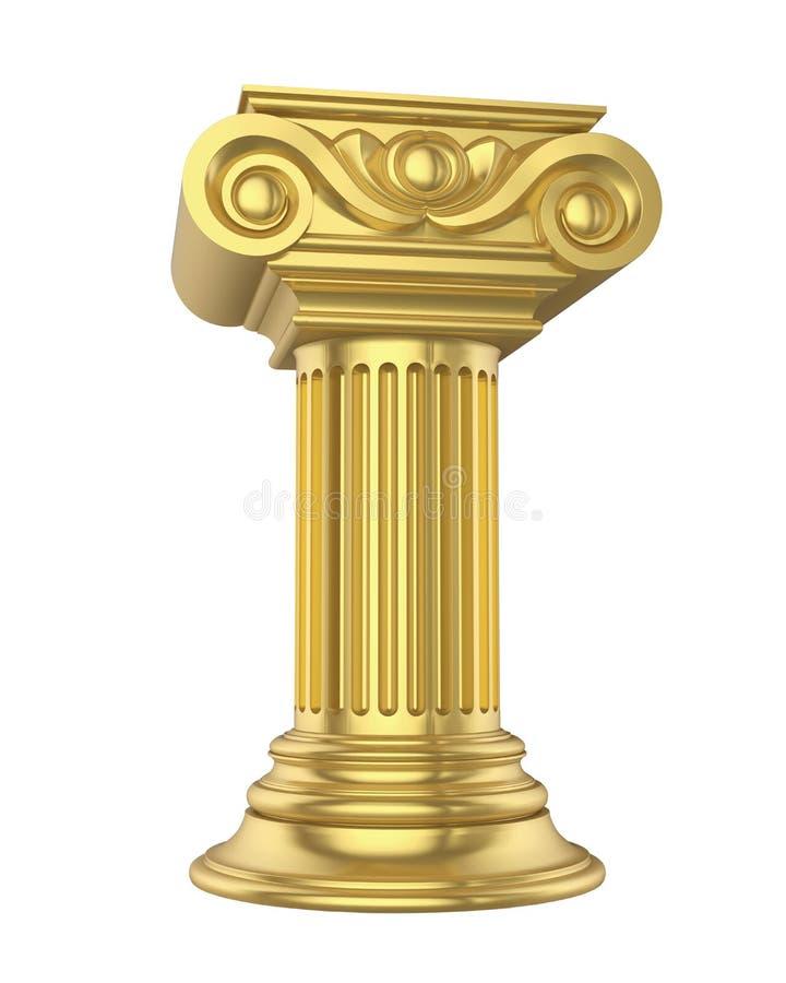 Colunas clássicas isoladas ilustração stock