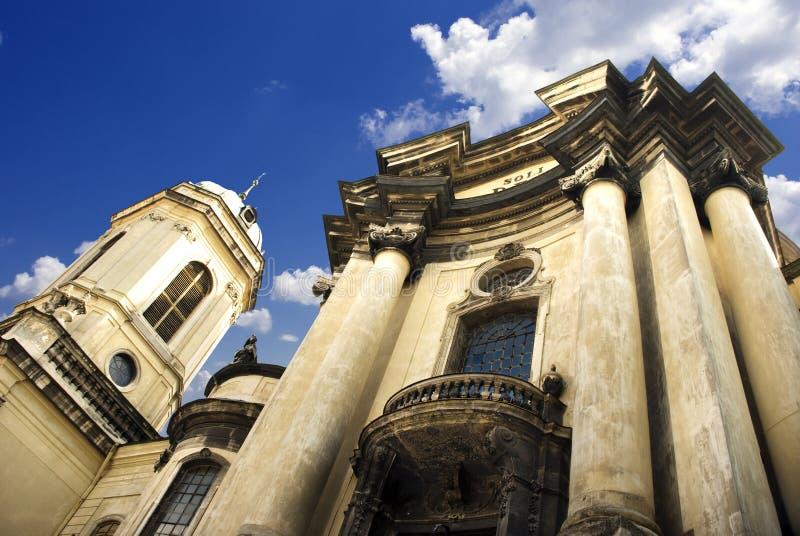 Colunas da igreja imagens de stock