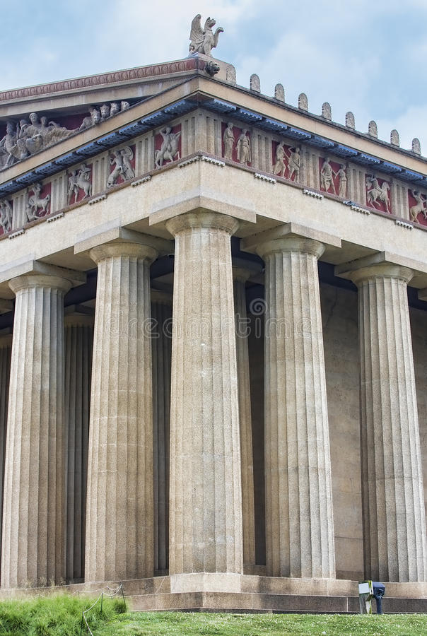 Colunas da réplica do Partenon, Nashville fotos de stock royalty free