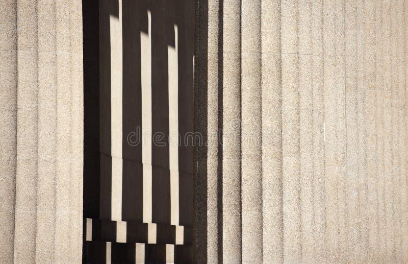 Colunas da réplica do Parthenon imagens de stock