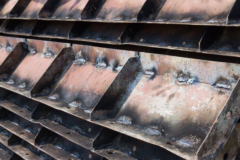 Colunas de aço foto de stock
