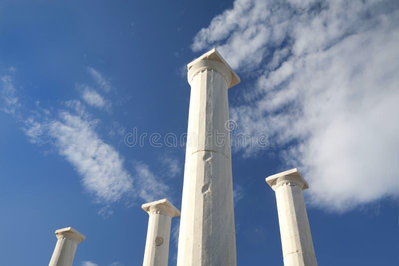Colunas de Delos foto de stock royalty free