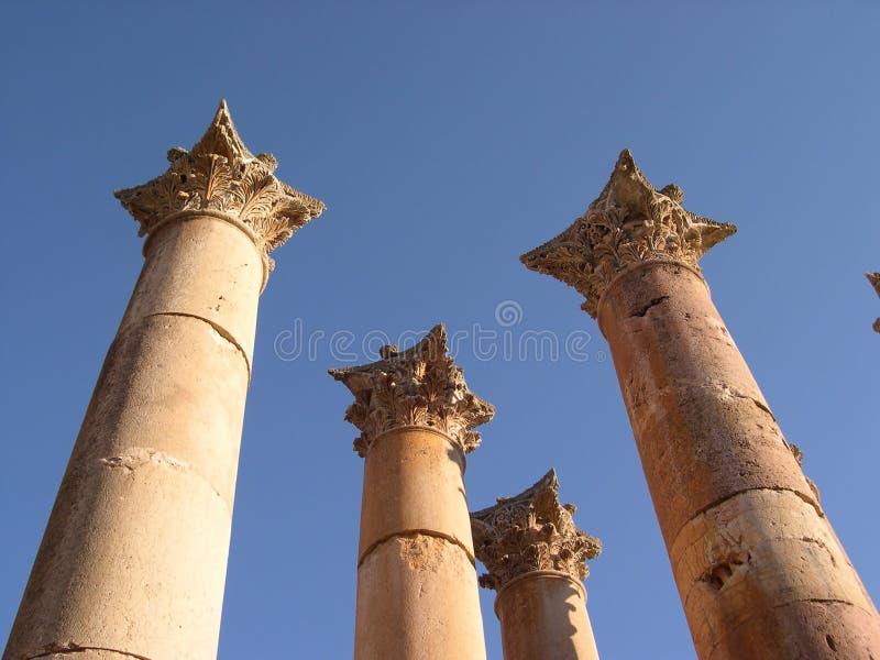 Colunas de Jerash fotos de stock royalty free