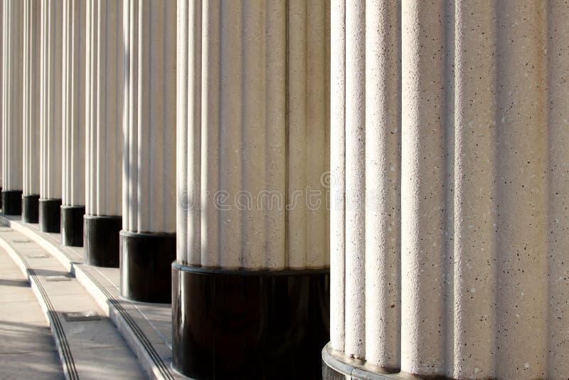 Colunas de justiça fotografia de stock royalty free