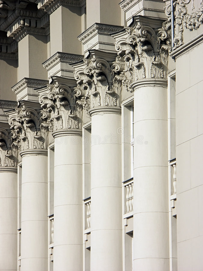 Colunas de justiça imagem de stock