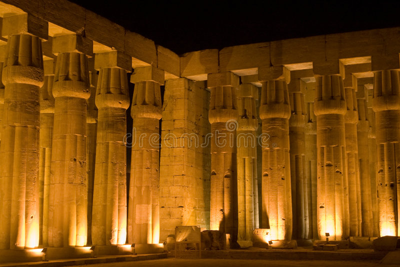 Colunas de Luxor foto de stock royalty free