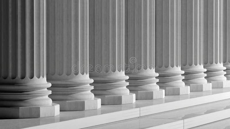 Colunas de mármore antigas brancas ilustração royalty free