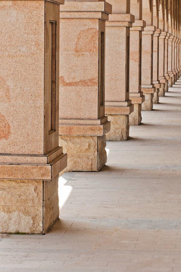 Colunas de pedra foto de stock