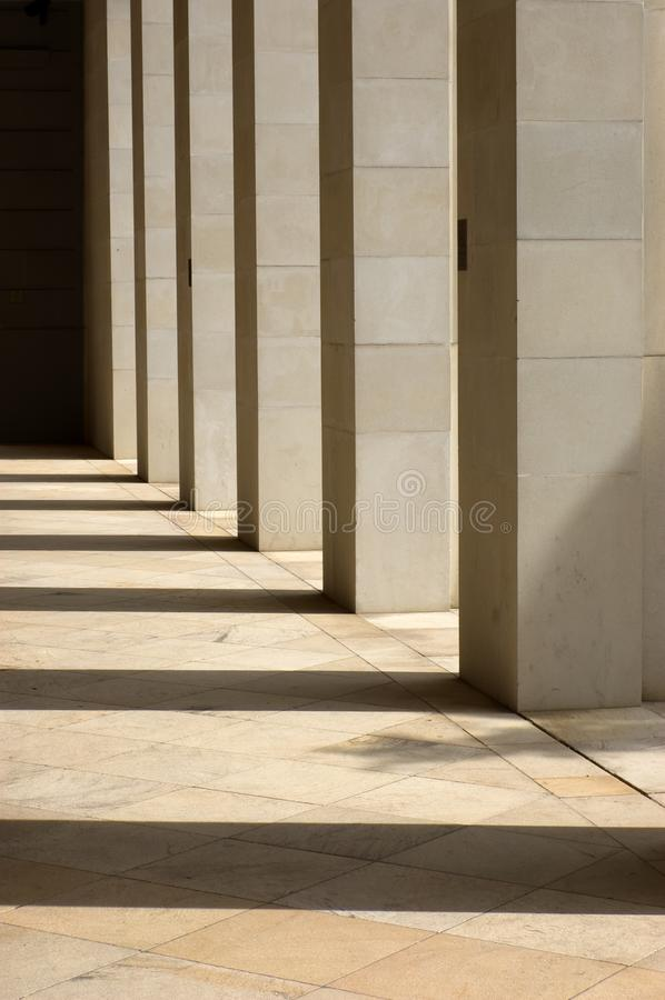 Colunas de pedra imagem de stock