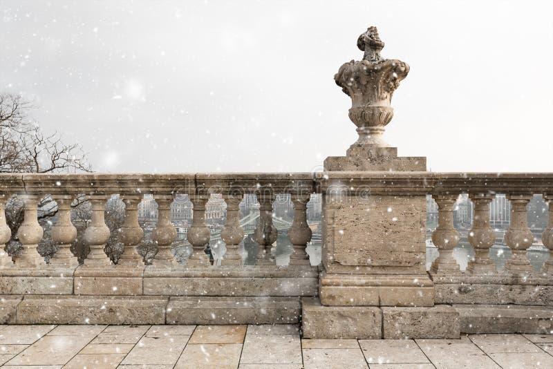 Colunas de pedra velhas foto de stock royalty free