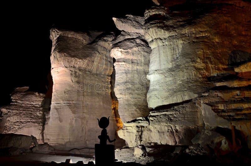 Colunas de Solomon na noite, Israel imagens de stock royalty free