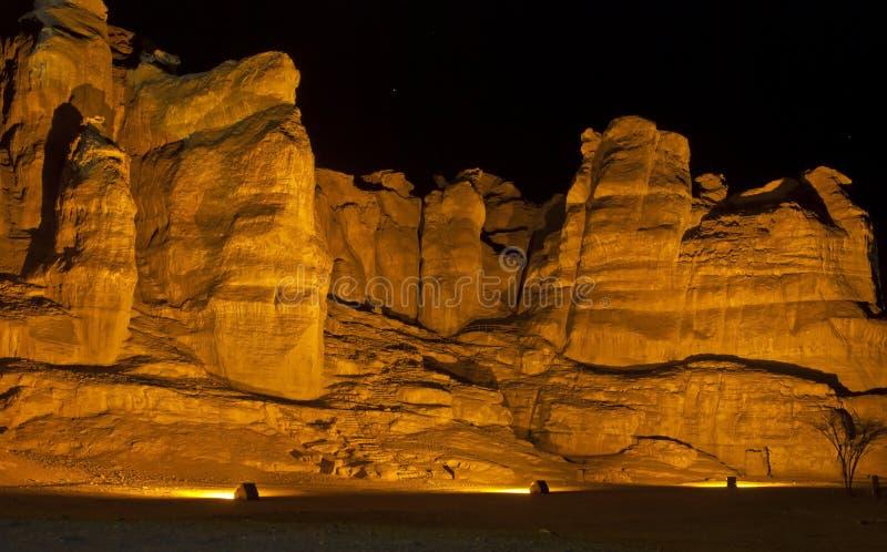 Colunas de Solomon no parque de Timna foto de stock