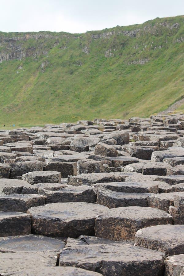 Colunas do basalto de Giant& x27; calçada de s imagens de stock royalty free