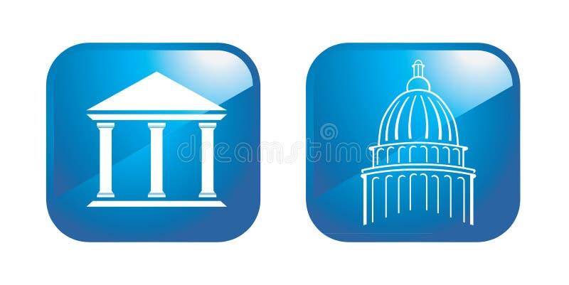 Colunas do Capitólio ilustração stock