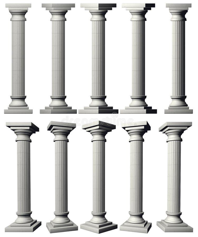 Colunas do Corinthian ilustração royalty free