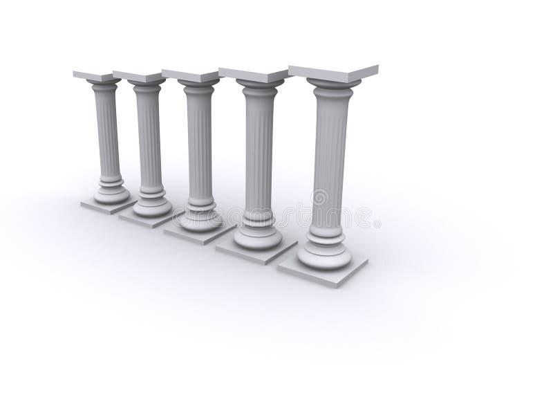 Colunas do diagrama ilustração royalty free
