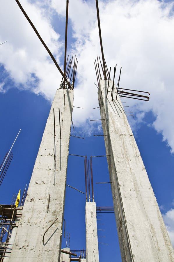 Colunas do edifício. fotografia de stock