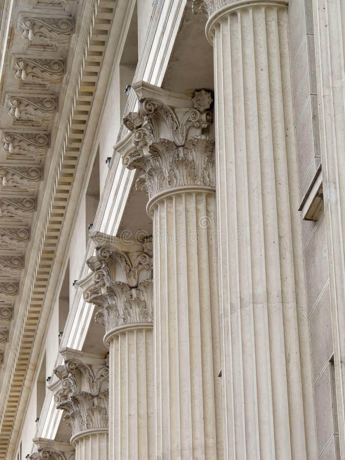 Colunas do grego clássico fotografia de stock