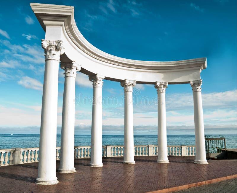 Colunas do grego clássico imagens de stock
