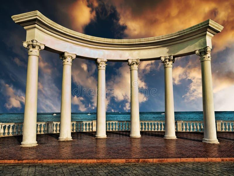 Colunas do grego clássico imagens de stock royalty free