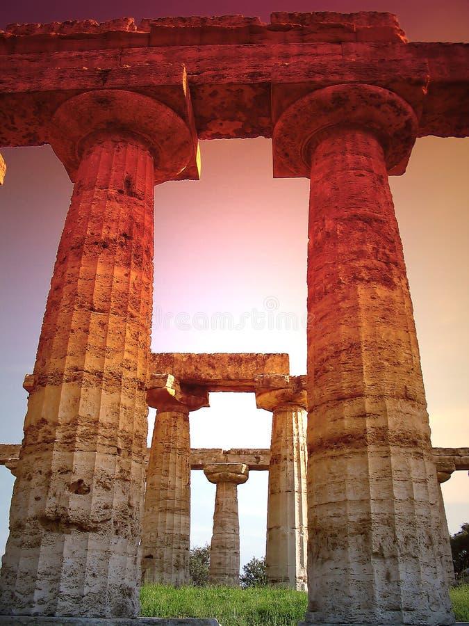 Colunas do templo fotos de stock