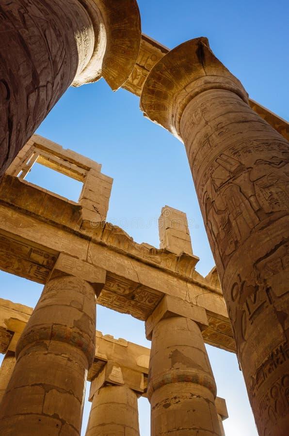Colunas do templo de Karnak fotos de stock