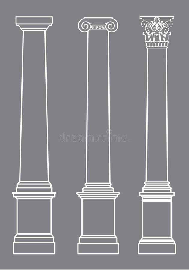 Colunas do vetor clássicas ilustração royalty free