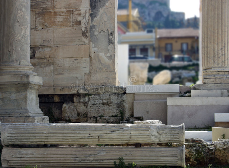 Colunas e colunas fotografia de stock
