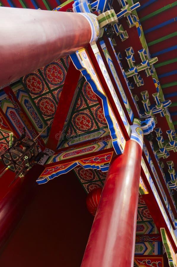 Colunas e telhado imagens de stock royalty free