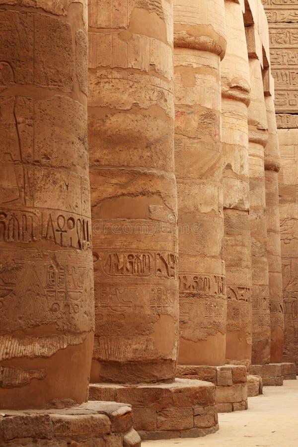 Colunas egípcias foto de stock