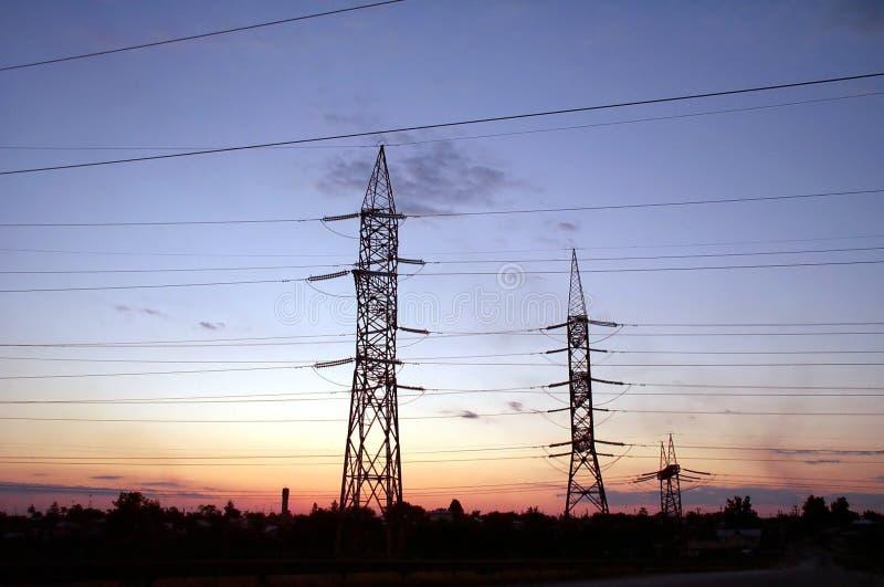 Colunas Elétricas Foto de Stock
