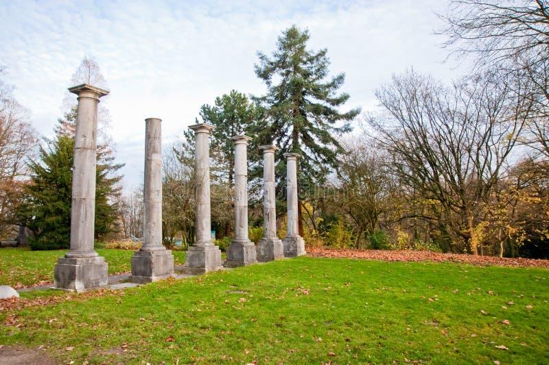 Colunas em Aix-la-Chapelle fotografia de stock