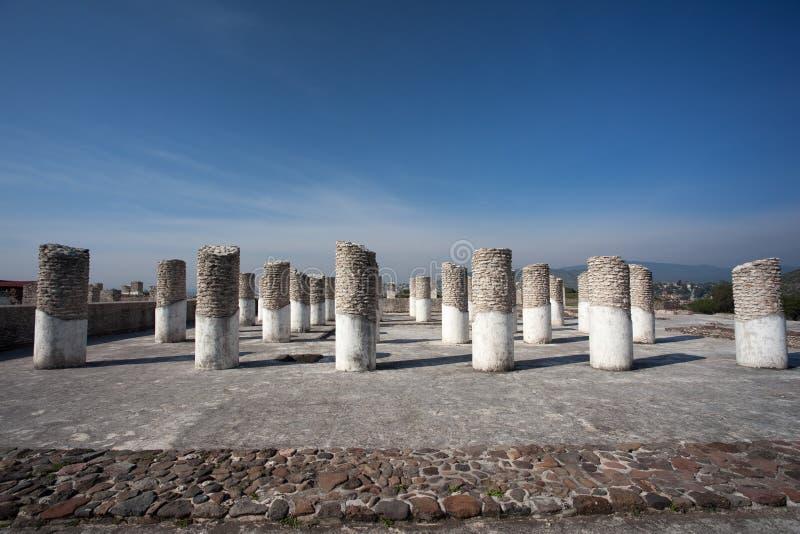 Colunas em Tula de Allende fotografia de stock
