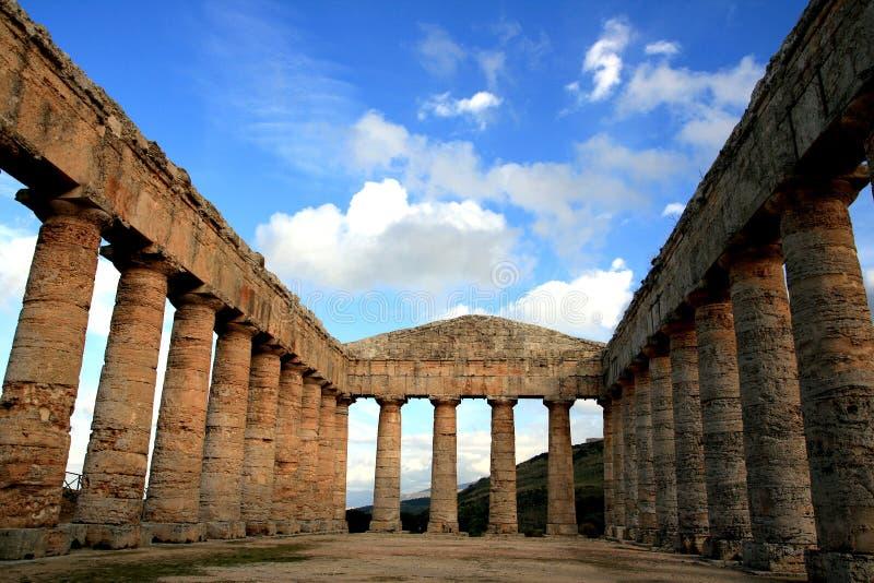 Colunas gregas do templo, Sicília imagens de stock