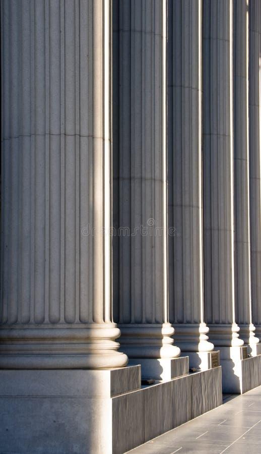 Colunas iónicas imagens de stock