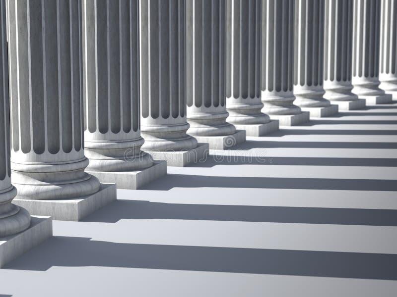 Colunas iônicas ilustração royalty free